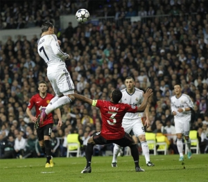 Ronaldo left full-back Evra for dead to score the header