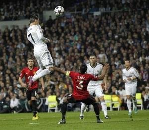 Ronaldo left full-back Evra for dead to score the header