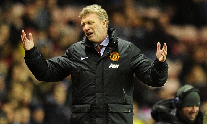 David Moyes saw his Manchester United side lose to Sunderland in the League Cup semi-final first leg